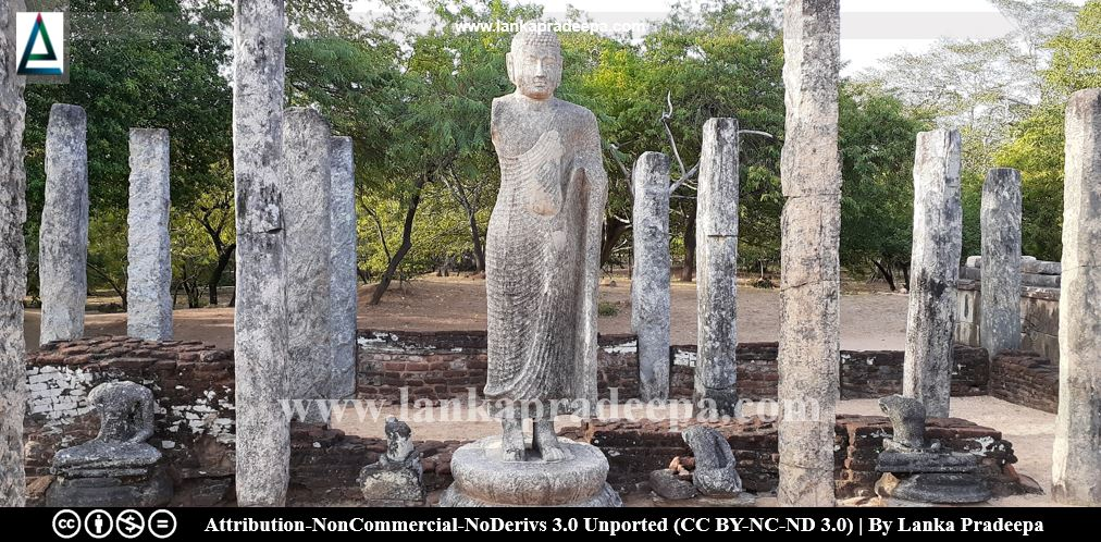 The standing Buddha image