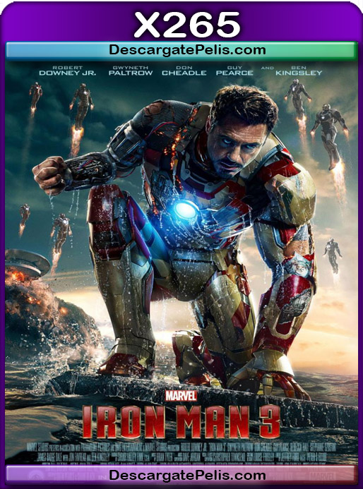 Iron Man 3 2013 1080P x265 Latino – Ingles
