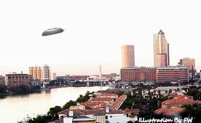Jet Fighter Follows UFO Over Tampa