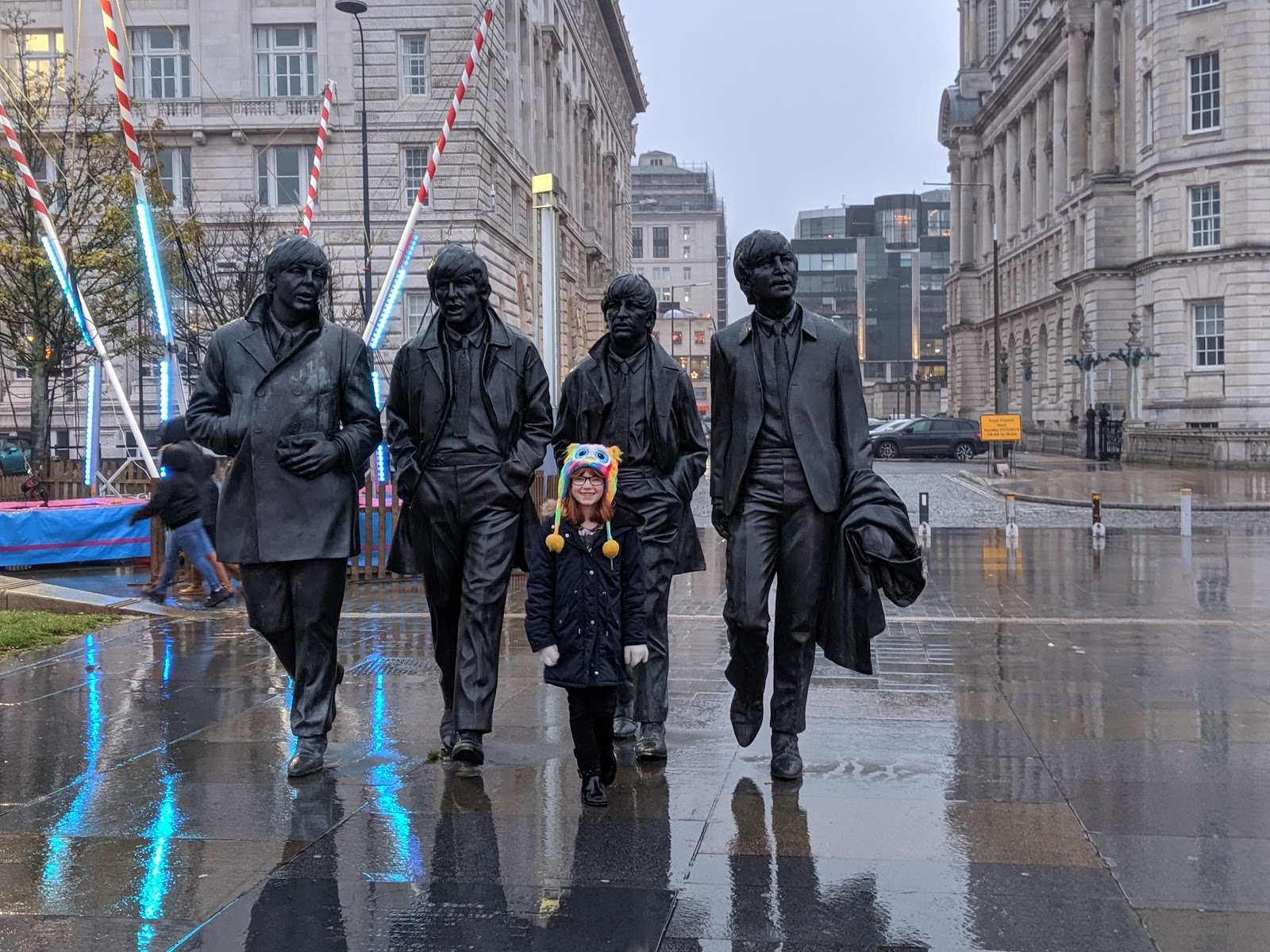 A Guide to Visiting Liverpool Christmas Markets & Lights  - Liverpool Ice Festival Beatles Monument