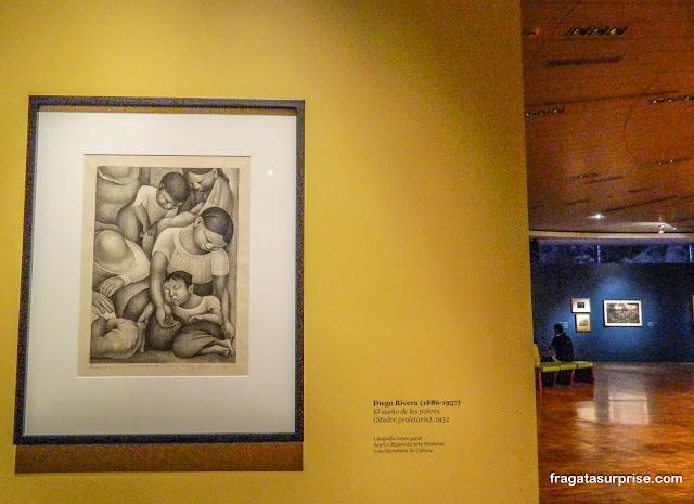 """""""A Mãe Proletária"""", quadro de Diego Rivera no Museu de Arte Moderna da Cidade do México"""