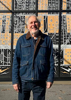 Herb Deutsch outside the Moog Music building in Asheville, NC