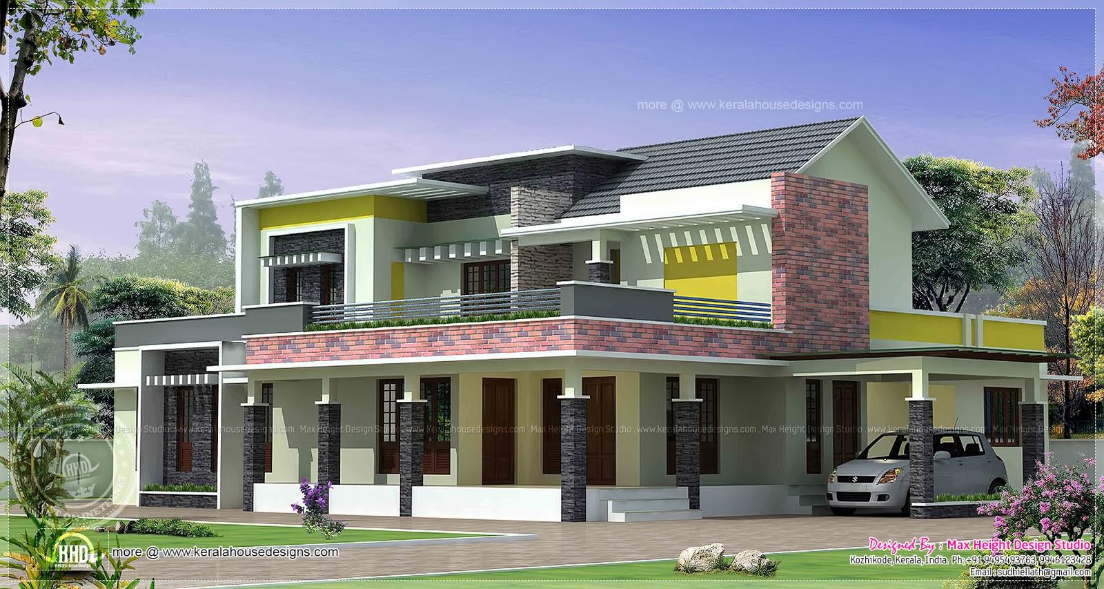 Modern Villa Exterior In 4350 Sqfeet