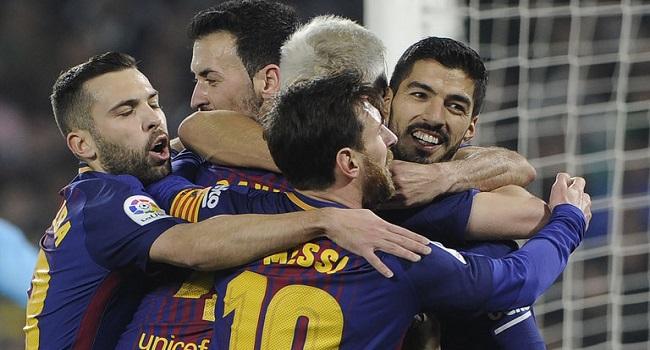 cuplikan gol real betis vs barcelona 0-5