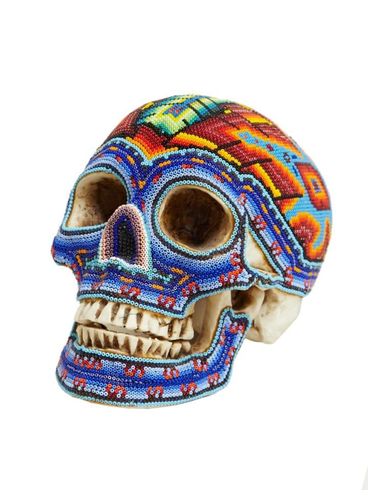 Изысканные черепа. Huichol Skull 8