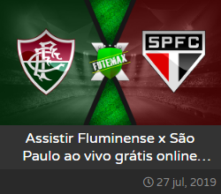 Assistir Fluminense x São Paulo ao vivo - SPFC e FLU sem travar dia 27/07/2019 às 19h00 - Brasileirão Série A - Transmissão da PREMIERE 4  (FUTEMAX)