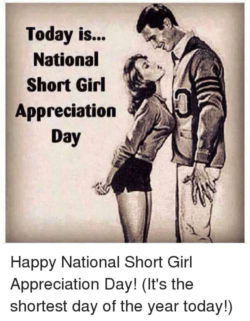 National Short Girl Appreciation Day Wishes Pics