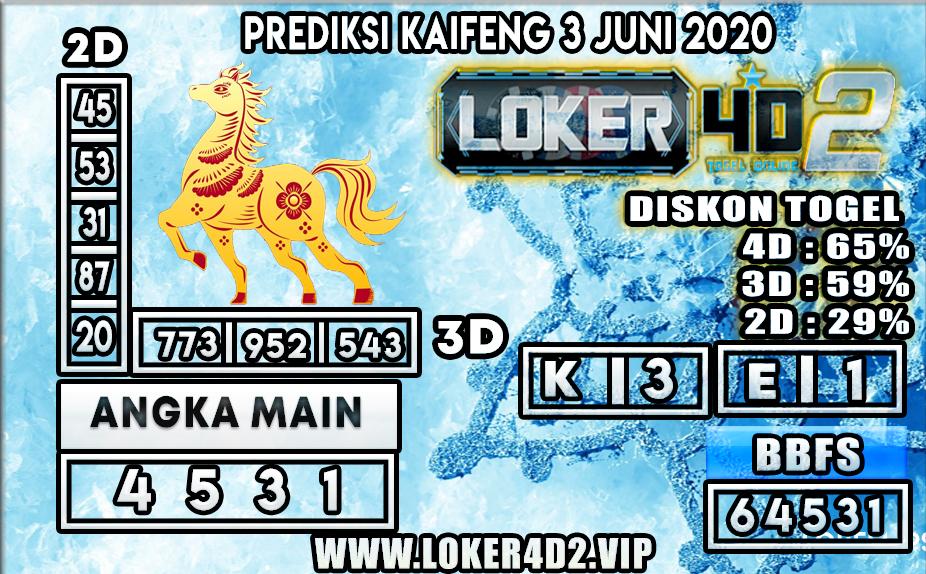 PREDIKSI TOGEL KAIFENG LOKER4D2 3 JUNI 2020