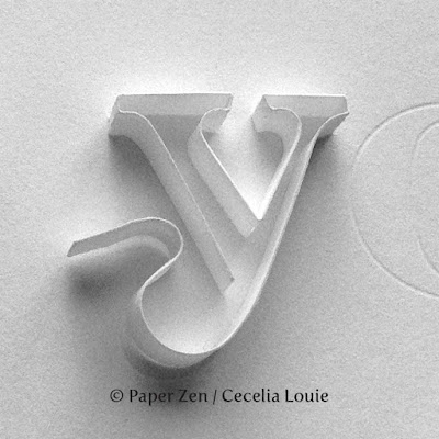 quilling paper letter word monogram