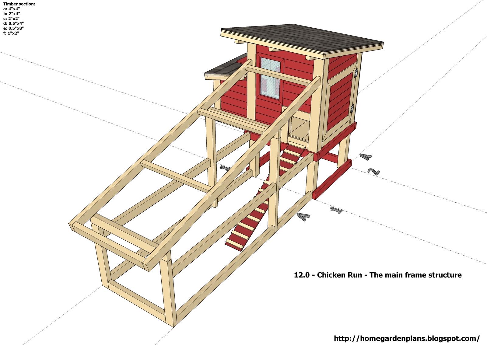 home garden plans: S100 - Small Chicken Coop - Free ...