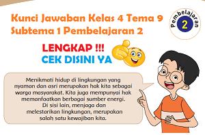 Kunci Jawaban Kelas 4 Tema 9 Subtema 1 Pembelajaran 2 www.simplenews.me