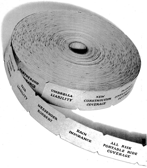 1972 ticket roll of insurance, large photograph