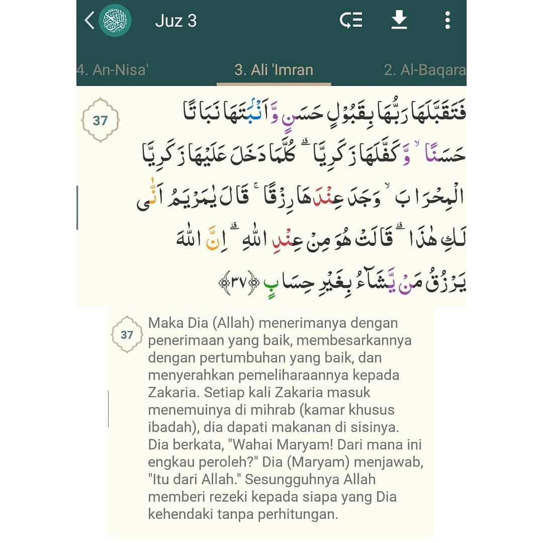 Keluarga Imran Surat Ketiga Dalam Al Quran