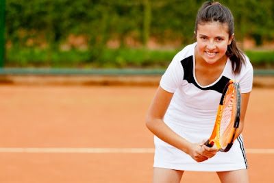 Practicando deporte tenis