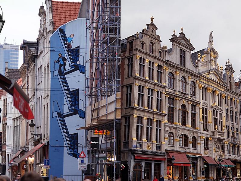 Brüssel: Historische Fassaden und Comics