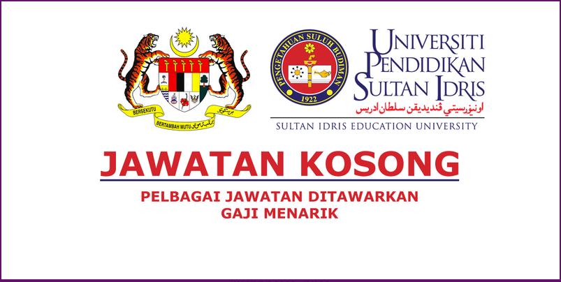Jawatan Kerja Kosong Universiti Pendidikan Sultan Idris (UPSI) - 14 Jun 2020 logo www.ohjob.info www.findkerja.com www.terengganu11.com www.suratkabo.com