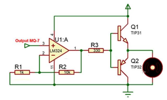 Implementasi Sensor Gas MQ-7 dengan motor DC