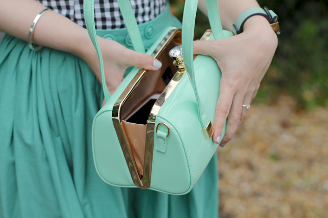 Mint green Emily bag by Dancing Days, Banned