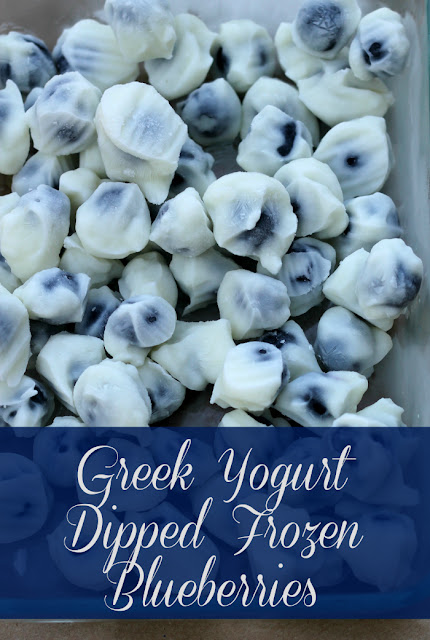 Make these easy and Delicious Greek yogurt-covered blueberries for the freezer in minutes! Enjoy them at your next summer party!