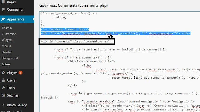 How to add Facebook Comments box on your WordPress site manually without Plugin 1