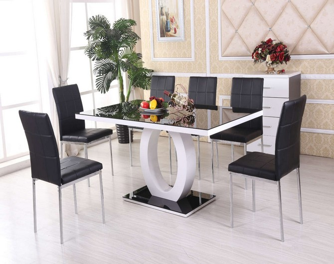 50 Design kitchen table and chairs glass top