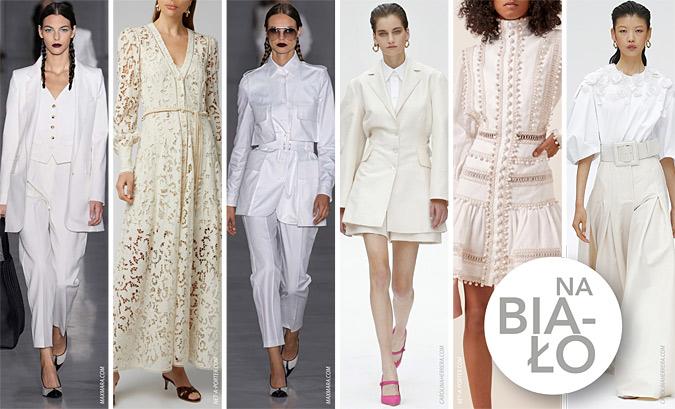 Modne stylizacje na biało