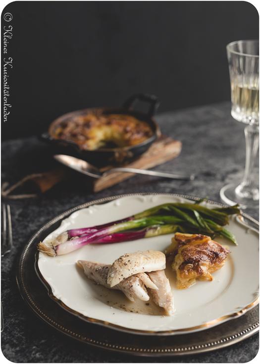 Kräuterbarsch aus dem Ofen mit Gratin Dauphinois