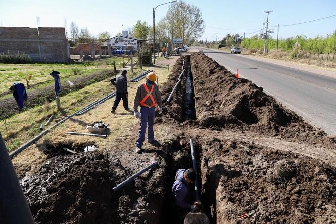 San Rafael: El municipio construye más redes de agua potable en localidades alejadas del centro