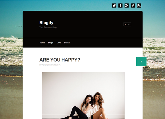 blogify top best premium blogger template free