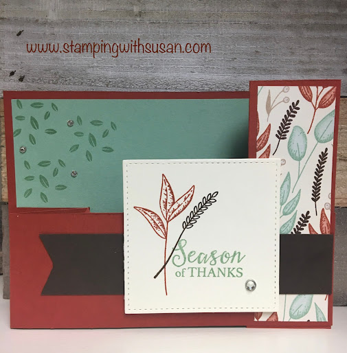 Stampin' Up!, Gilded Autumn, Gather Together, Beautiful Autumn, Gnome For The Holidays, www.stampingwithsusan.com, Fun Fold,