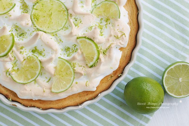 Key Lime Pie Limetten Kuchen mit Meringue