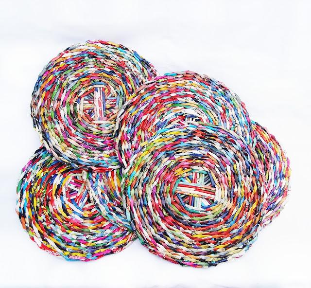 recyklingowe podkładki z papieru