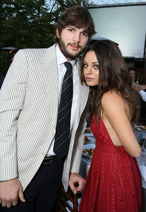ashton kutcher and mila kunis dating history