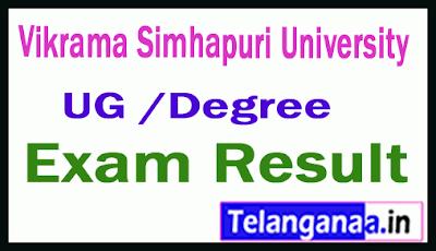 VSU UG Regular Supply Exam Results