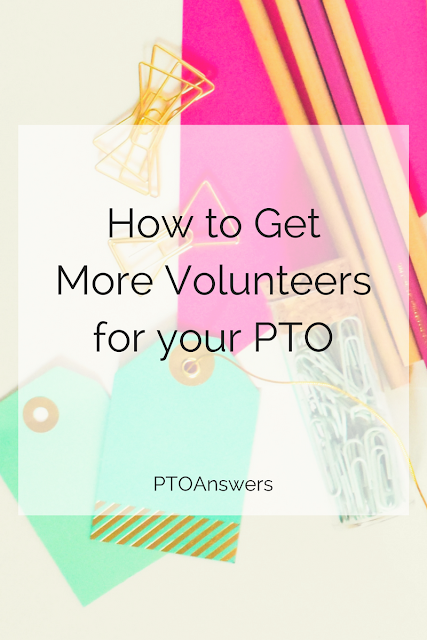 Struggling to get enough volunteers for your PTO / PTA or other parent group? This post has some fantastic and super practical solutions to follow! to put an end to this common problem