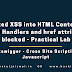 Reflected XSS with event handlers and href attributes blocked