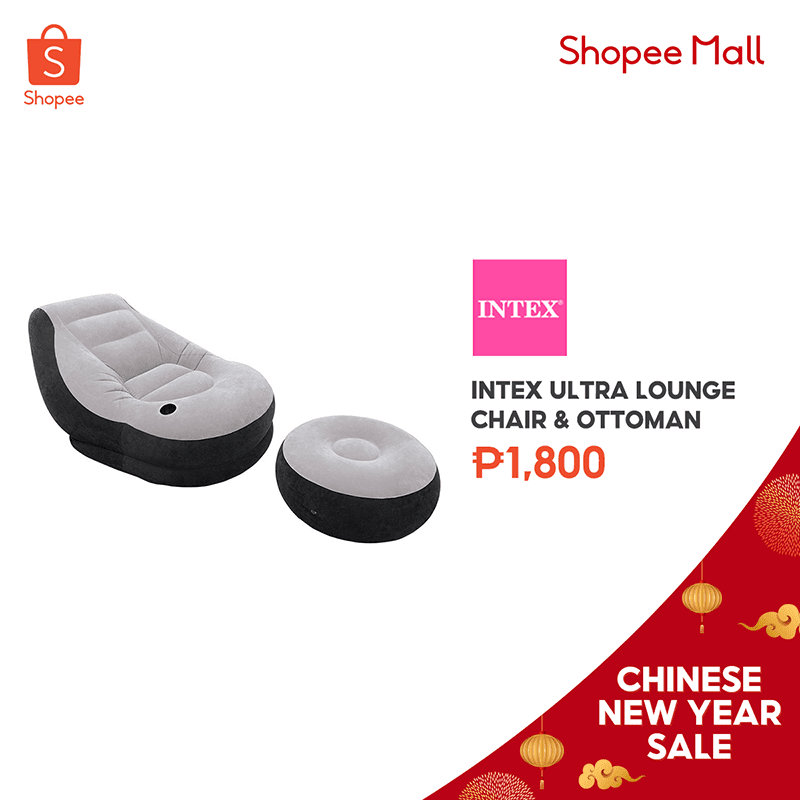 INTEX Inflatable lounge chair and ottoman