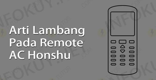 arti lambang pada remote ac honshu