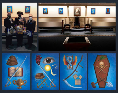 Unveiling of Symbolic Paintings. by Travis Simpkins. M.W. Richard Maggio. Grand Lodge of Massachusetts