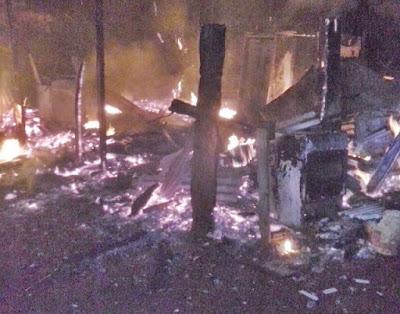 Mauá da Serra-Casa pega fogo na Vila Maria