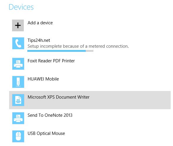 Cách bật tắt Bluetooth, chia sẻ dữ liệu trên Windows 8