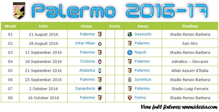 Download Jadwal US Palermo 2016-2017 File JPG - Download Kalender Lengkap Pertandingan US Palermo 2016-2017 File JPG - Download US Palermo Schedule Full Fixture File JPG - Schedule with Score Coloumn