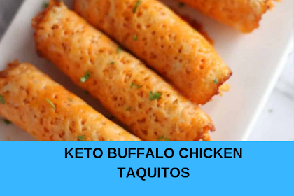 KETO BUFFALO CHICKEN TAQUITOS