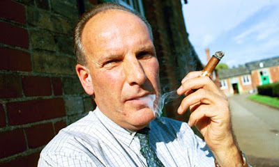 Sir Mark Prescott with Cuban cigar