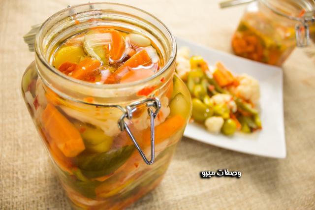 طريقة عمل مخلل الخضروات ( الطرشي )