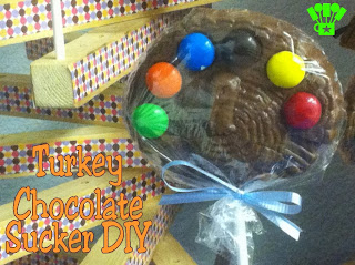 Thanksgiving Turkey Chocolate Sucker DIY by Kims Kandy Kreations