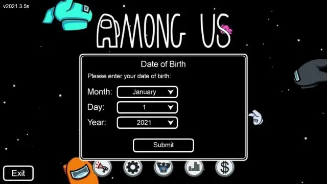 among us date of birth