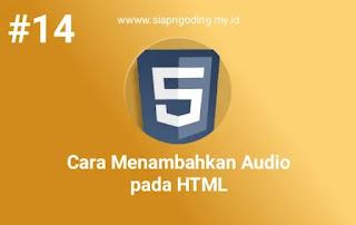 cara menambahkan audio di html