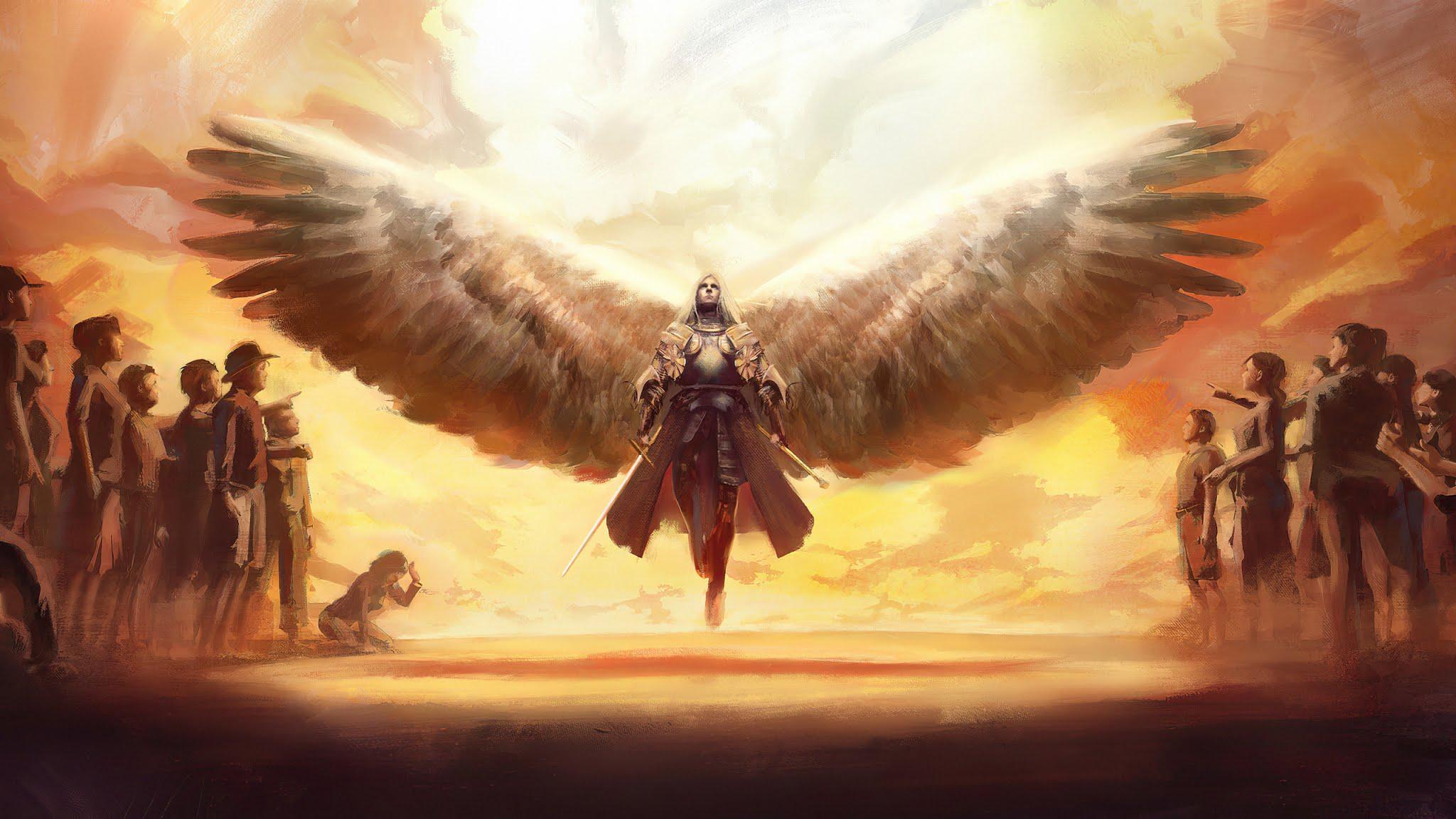 Guardian Angel Fantasy Wallpaper
