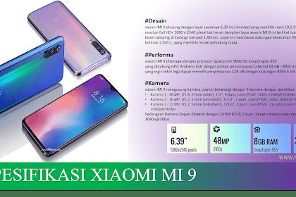 Spesifikasi, Harga Dan Test Gaming Ponsel XIAOMI MI 9